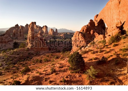 Arches National Park in the Morning