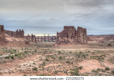 Arches National Park is a US National Park in eastern Utah