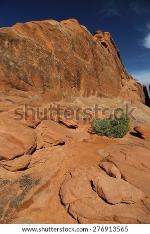 Arches National Park Landscape in Moab, Utah - stock photo