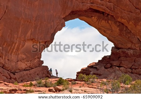 Arches National Park Vistas - stock photo