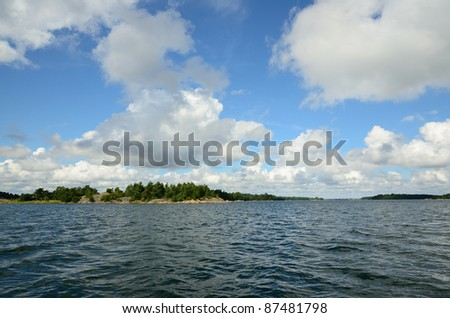 Archipelago of St Anna (Sweden) - stock photo