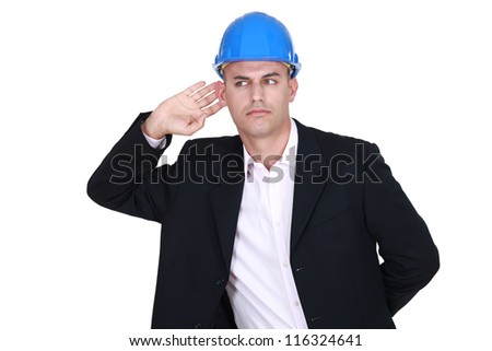 Architect listening - stock photo