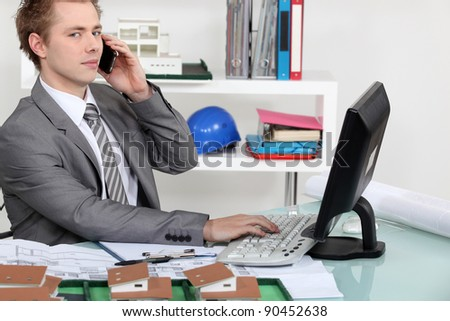 Architect sat in office