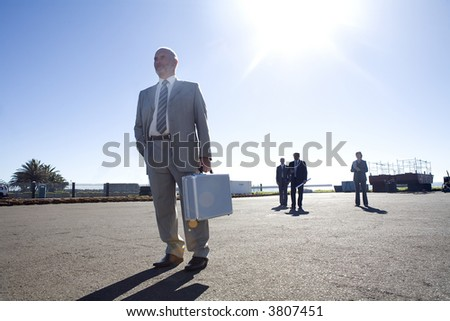 Architect team on survey - stock photo