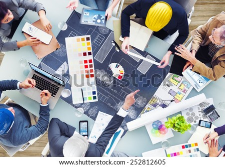 Architects and Designers Working in the Office - stock photo