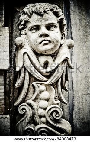 Architectual details from the town center of Copenhagen, Denmark - stock photo