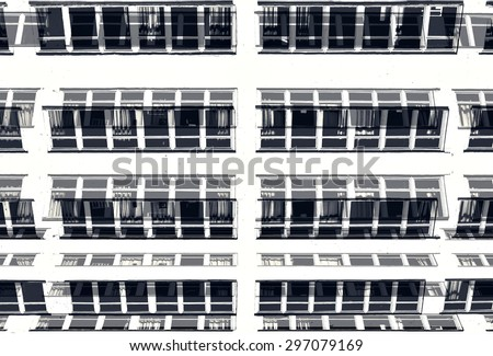 architectural abstraction - stock photo