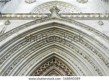 Architectural and historic old cathedral Arches, construction