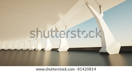 architectural background - stock photo