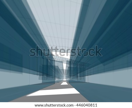 architectural background 3d illustration