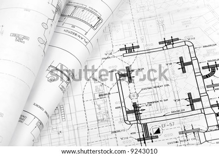 Architectural blueprint background stock photo 9243010 shutterstock architectural blueprint background malvernweather Gallery