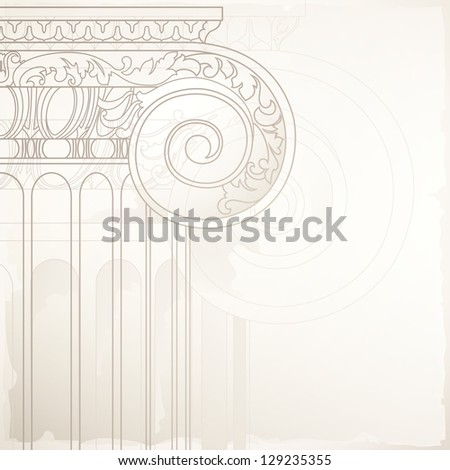 architectural design background - stock photo
