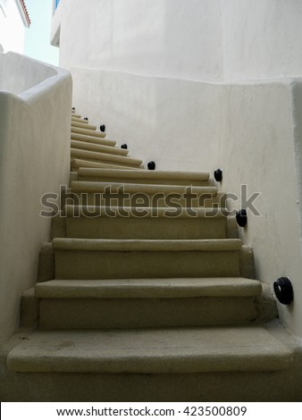 Architectural design of stairs Construction detail stairway composition - stock photo
