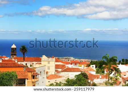 Architectural detail in La Orotava, Tenerife, Spain, Europe - stock photo
