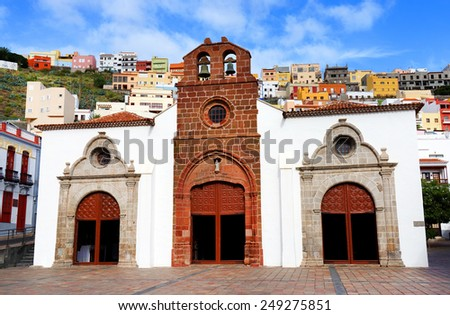 Architectural detail in San Sebastian de la Gomera, Canary Islands, Spain - stock photo