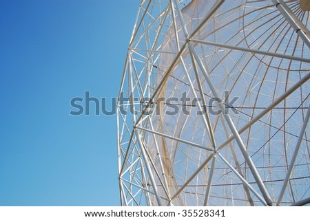 Architectural detail of a spherical construction