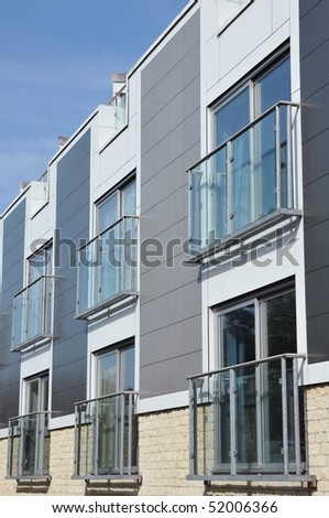 Architectural Detail of an Apartment Block - stock photo