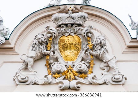 Architectural detail of Belvedere Palace in Vienna, Austria - stock photo