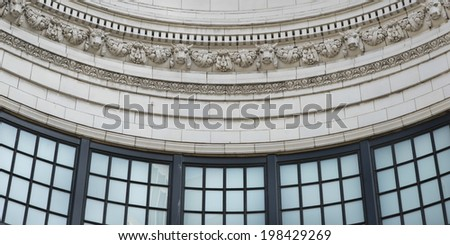 Architectural detail of Coliseum Theater, Seattle, Washington State, USA - stock photo