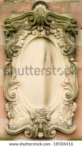 Architectural detail of old building - stock photo