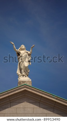 Architectural detail of Saint Peter and Paul church in Athlone, Ireland. - stock photo