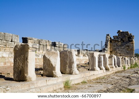Architectural detail   of the classical cities in the ancient world. - stock photo