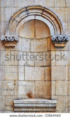 Architectural detail, part of a decor of a building - stock photo