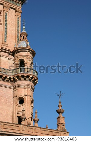 Architectural Details at Plaza Espana, Sevilla