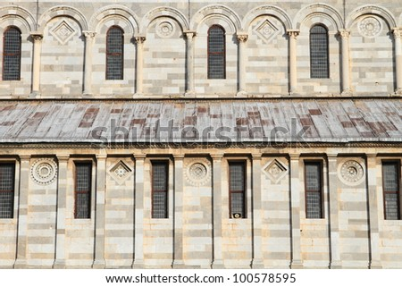 architectural details of Pisa Cathedral