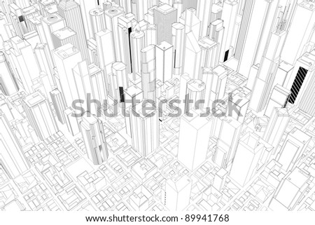 architectural drawings of skyscrapers. Wonderful Skyscrapers Architectural Drawing Of City With Skyscrapers From Above To Drawings Of Skyscrapers 3