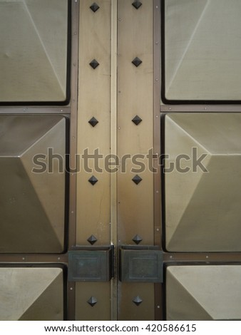 Architectural elements and ornaments copper doors