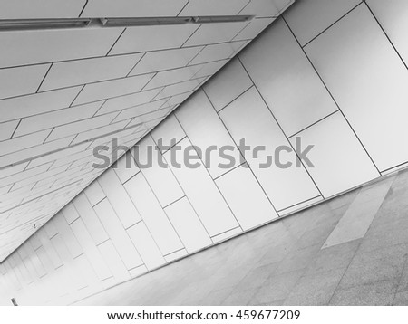 Architectural forms in modern building, abstract texture background.