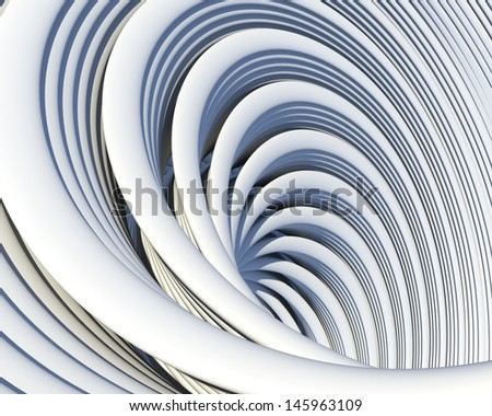 Architectural geometric background. Creative conceptual architecture design  - stock photo