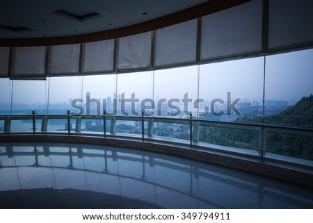 Architectural glass viewing platform, Chongqing - stock photo