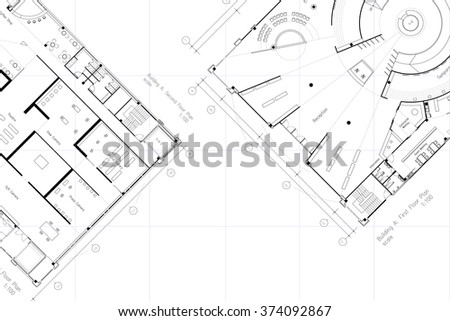 Architectural layout floor plan grid lines stock for Room planning grid