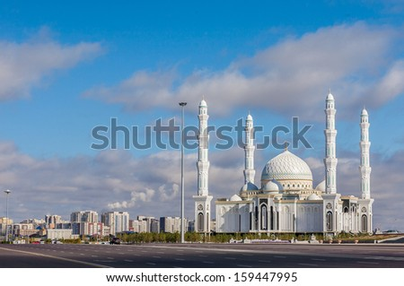 Architectural masterpieces and religious office building in Astana Kazakhstan - stock photo