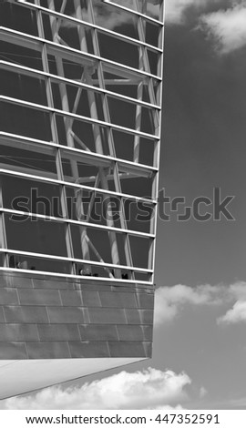 Architectural Modern Building the BOK Center in Tulsa Oklahoma