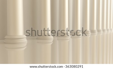 architectural object (column, balustrade, Colonnade, arcade, frame)