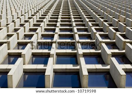 Architectural optical illusion - stock photo