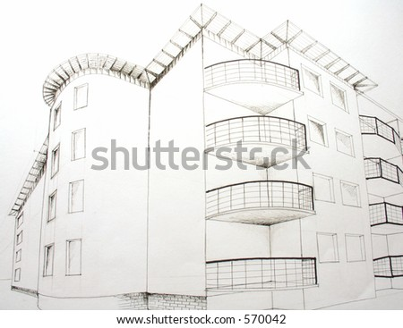 architectural plan 6 - stock photo