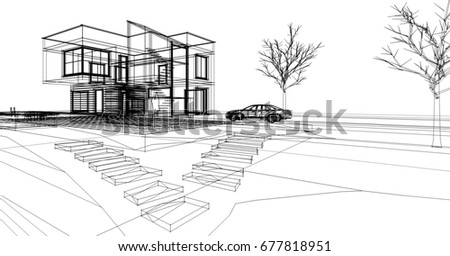 House Architecture Sketch architecture sketch stock images, royalty-free images & vectors