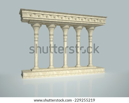 Architectural structure in classical style