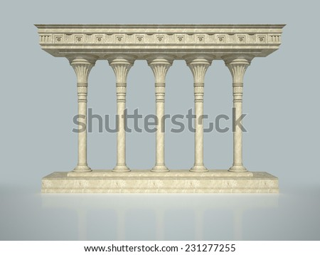 Architectural structure in classical style - stock photo
