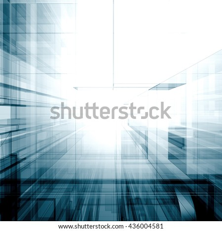 Architecture abstract. Architecture design and model my own. 3D rendering - stock photo