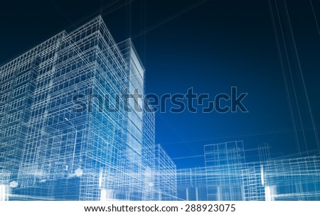 architecture abstract blueprint - stock photo