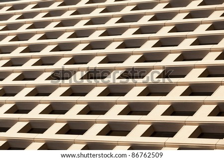Architecture abstract of downtown office building. - stock photo