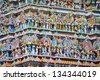 Architecture at finest in the Chidambaram temple South India - stock photo