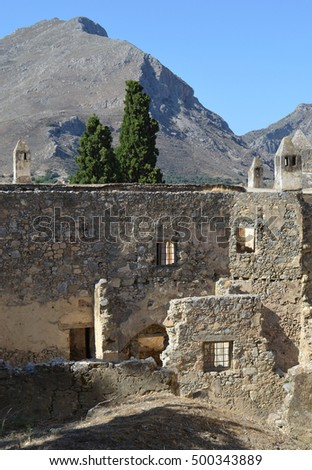 Architecture at the Old / Lower Preveli Monastery, Crete