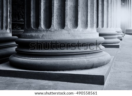Architecture background - colonnade of the Kazan Cathedral in St Petersburg, Russia