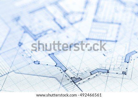 Architecture blueprint 3d house plan vector vectores en stock architecture blueprint house plan malvernweather Image collections
